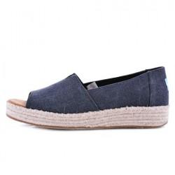 Toms 10009745 Blk Washed Canvas Kadın Günlük Ayakkabı - Thumbnail