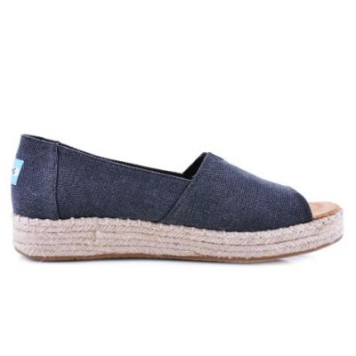 Toms 10009745 Blk Washed Canvas Kadın Günlük Ayakkabı