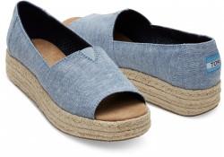 Toms 10009746 Blue Chambray Kadın Günlük Ayakkabı - Thumbnail