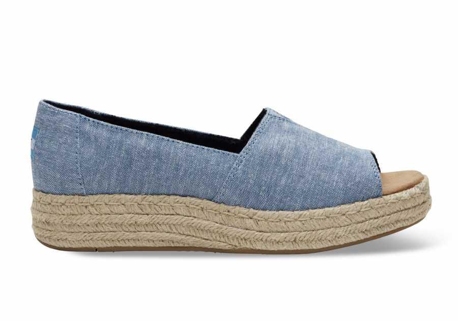 Toms 10009746 Blue Chambray Kadın Günlük Ayakkabı