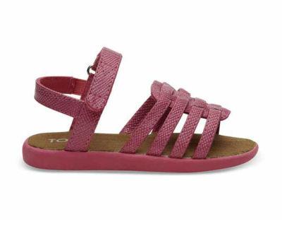 Toms - Toms 10010028 Fuchsia Iridescent Çocuk Günlük Sandalet
