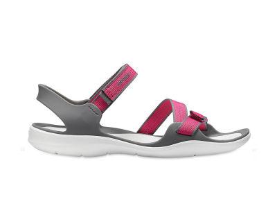 Crocs - Crocs 204804-6OH Swiftwater Webbing Sandal Kadın Günlük Terlik