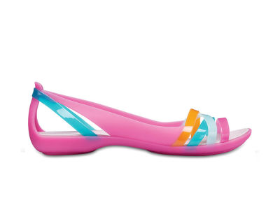 Crocs - Crocs 204912-6NU Isabella Huarache 2 Flat Kadın Günlük Terlik